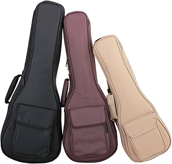 HOT SEAL Classic 15MM Thick Durable Simple Color Ukulele Case Bag with Independent Storage Pocket Uke Cover (26in