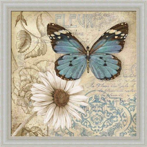 Butterfly Garden II by Conrad Knutsen Boho Chic Butterfly 14x14 Framed Art Print Picture Wall (Butterfly Garden Framed Print)