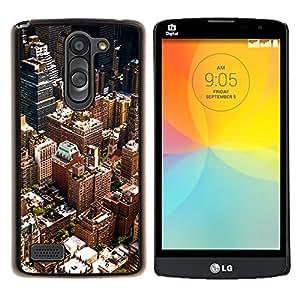 LECELL--Funda protectora / Cubierta / Piel For LG L Bello L Prime -- Paisaje urbano de Nueva York --