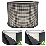 Honeywell Replacement Filter Kit 17000-S – 20500 True HEPA Filter + Exact Fit Pre Cut Carbon Pre Filters (1 HEPA Filter + 4 Carbon Wraps)