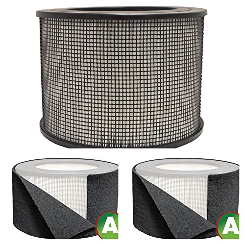 Honeywell Replacement Filter Kit 50250-S - 24000 True HEPA Filter and Pre Cut Carbon Pre Filter Wraps (1 HEPA Filter + 2 Carbon Wraps)