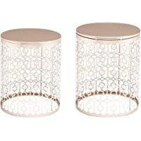 2-Set OnEveryBaby Round Gold Coffee Side Tables