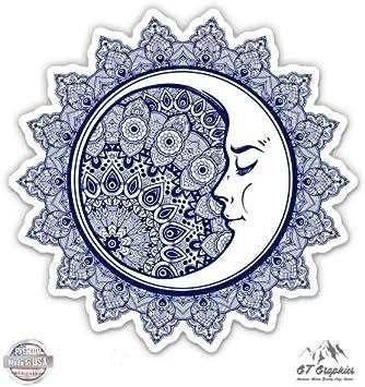 Vinyl Sticker Waterproof Decal GT Graphics Wolf Howling Moon Celestial Mountains