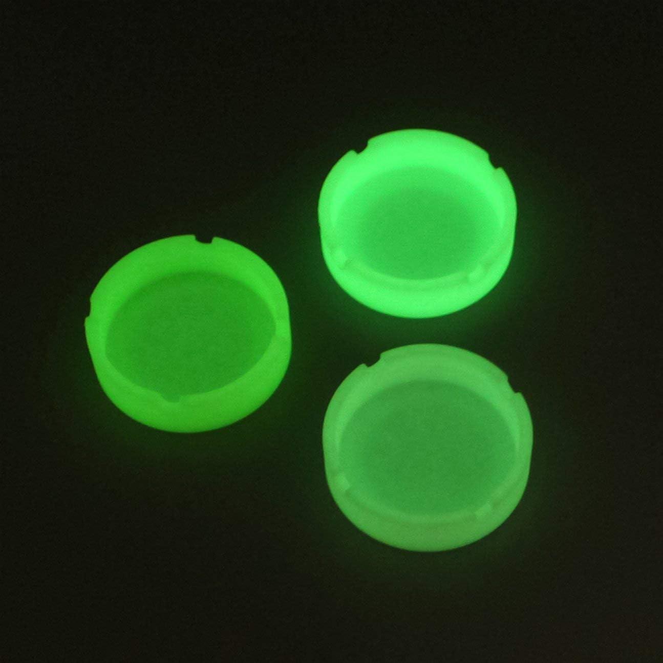 HIPENGYANBAIHU Cendrier Portable en Silicone Cendrier Fluorescent Lumineux