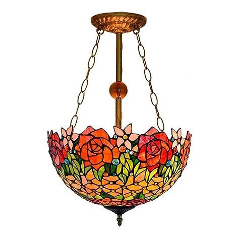 lámparas de vidrio coloreado Tiffany Style de 16 pulgadas ...
