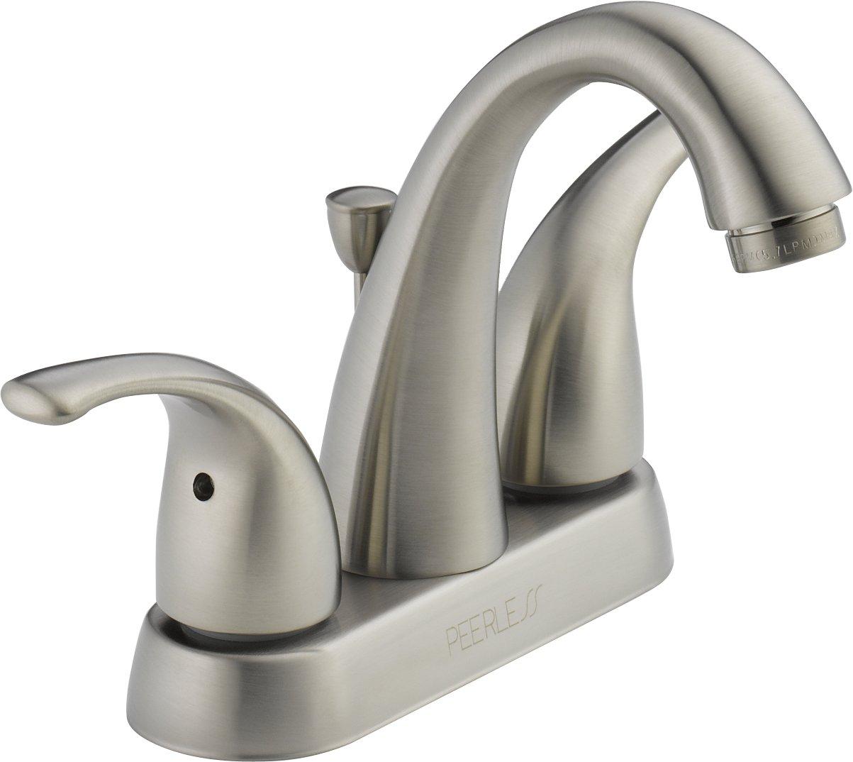 Peerless P299695LF-BN Apex Two Handle Bathroom Faucet, Brushed ...