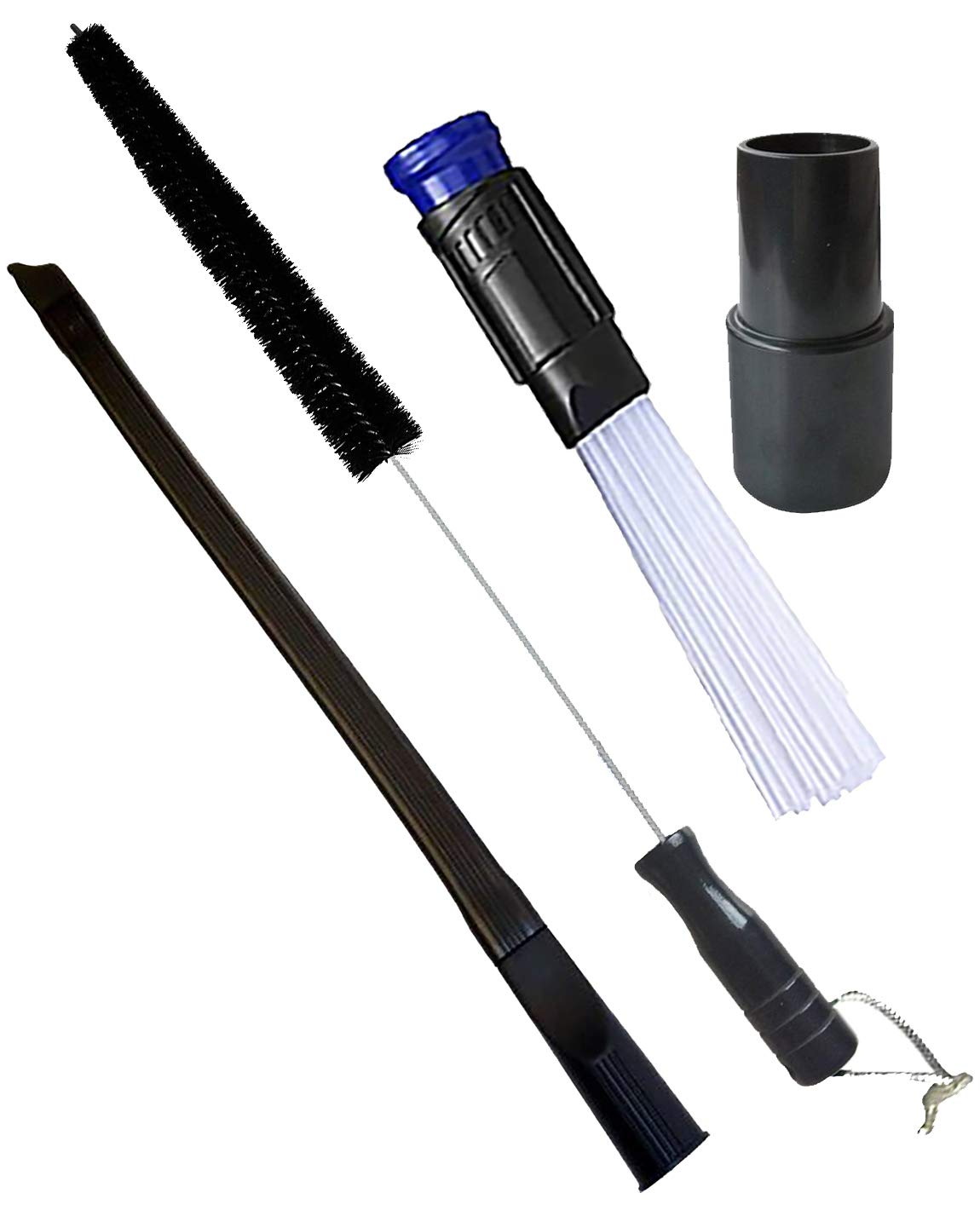 Wonlives Dryer Cleaning Kit Universal Vacuum Hose Attachment and 70cm Flexible Dryer Vent Cleaning Brush Fits Vacuum Hoses 32mm,Include Adapter 32mm to 35mm