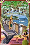 Lahaina, Maui, Hawaii - Town Scenes Montage (9x12 Art Print, Wall Decor Travel Poster)