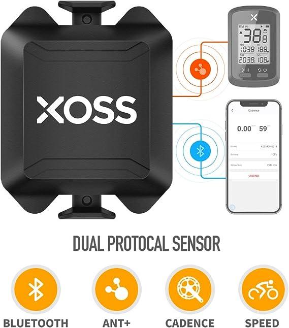 XOSS Cadencia/Velocidad Sensor para la computadora de la Bici ...