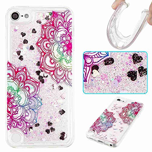 iPod Touch 5 Case, iPod Touch 6 Case, Fisel Cool Quicksand Moving Sand Flowing Liquid Defender Bumper Floating Luxury Bling Glitter Sparkle Hard Case For Apple iPod touch 5 6th Generation (5 Otterbox Ipod For Gen)
