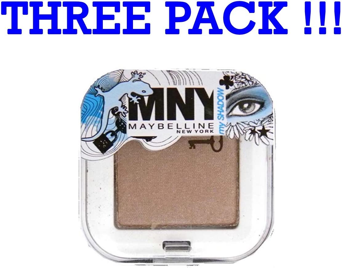 Tres Pack Maybelline MNY My Shadow Eyeshadow sombras de ojos Cool Brown 417: Amazon.es: Belleza
