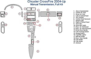 Chrysler CrossFire Full Dash Trim Kit, Manual - Real Carbon Fiber