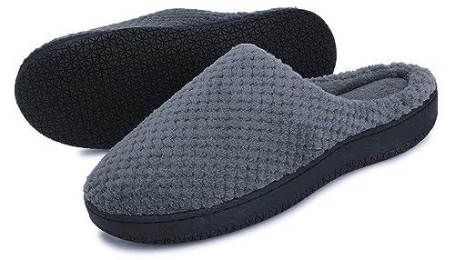 SMajong Zapatillas de Estar por casa para Mujer Hombre Invierno Caliente Terciopelo Pantuflas Casa Espuma de Memoria Talla Grande 37-47: Amazon.es: Zapatos ...