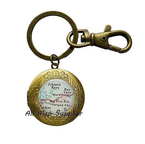 Amazon.com: Llavero encantador, diseño de florida con llaves ...