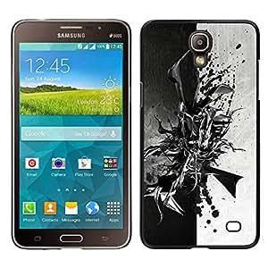 iKiki Tech / Estuche rígido - Negro abstracto en blanco y - Samsung Galaxy Mega 2