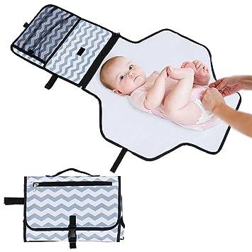 5a40a9ae3 Rovtop Cambiador Portátil de Pañales para el bebé Kit Cambiador de Viaje  bolso plegable de viaje Para llevar las cositas del bebé: Amazon.es: Bebé