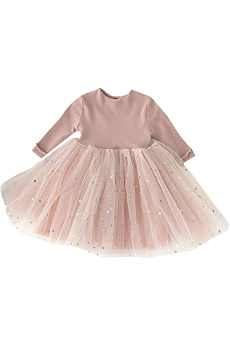 Toddler Baby Girls Winter Dress Tutu Dresses Long Sleeve Infant Children Clothes for 1-5Years