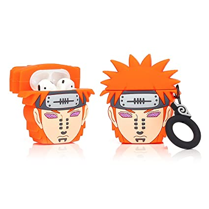 Cartoon Pattern Naruto Best Gift for Girl Boy ZAHIUS Airpods Silicone Case Funny Cover Compatible for Apple Airpods 1/&2