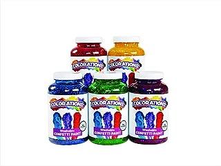 product image for Colorations Washable Confetti Finger Paint for Kids, Each 16 fl oz, 5 Colors, Non-Toxic Paint, Kids Finger Paint, Sensory Finger Paint, Kids Paint, Hand Painting, Kids Fingerpaint, Finger Paint for
