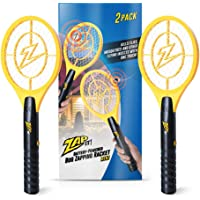 ZAP IT! Bug Zapper - Battery Powered Mosquito, Fly Killer and Bug Zapper Racket 4,000 V Mini 2 Pack