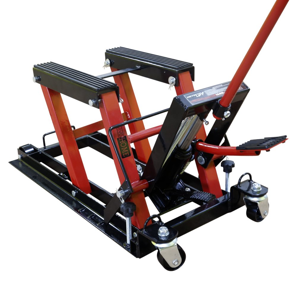 VIVOHOME Steel Hydraulic Motorcycle ATV Lift Jack Hoist Stand 1500Lb by VIVOHOME (Image #7)