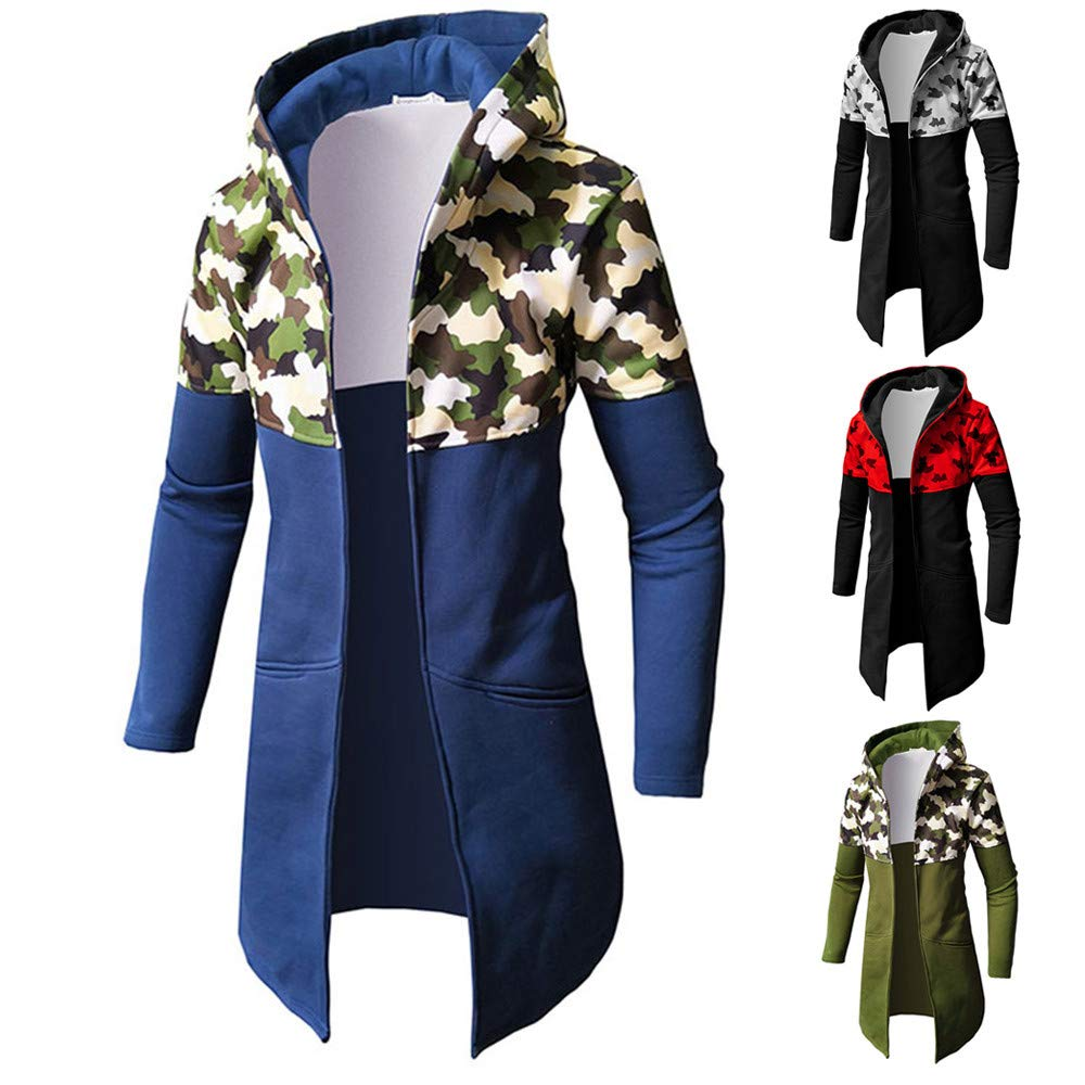 Amazon.com: SMALLE ◕‿◕ Clearance,Mens Autumn Winter Casual Camouflage Zipper Long Sleeve Top Blouse Jacket Coat: Clothing