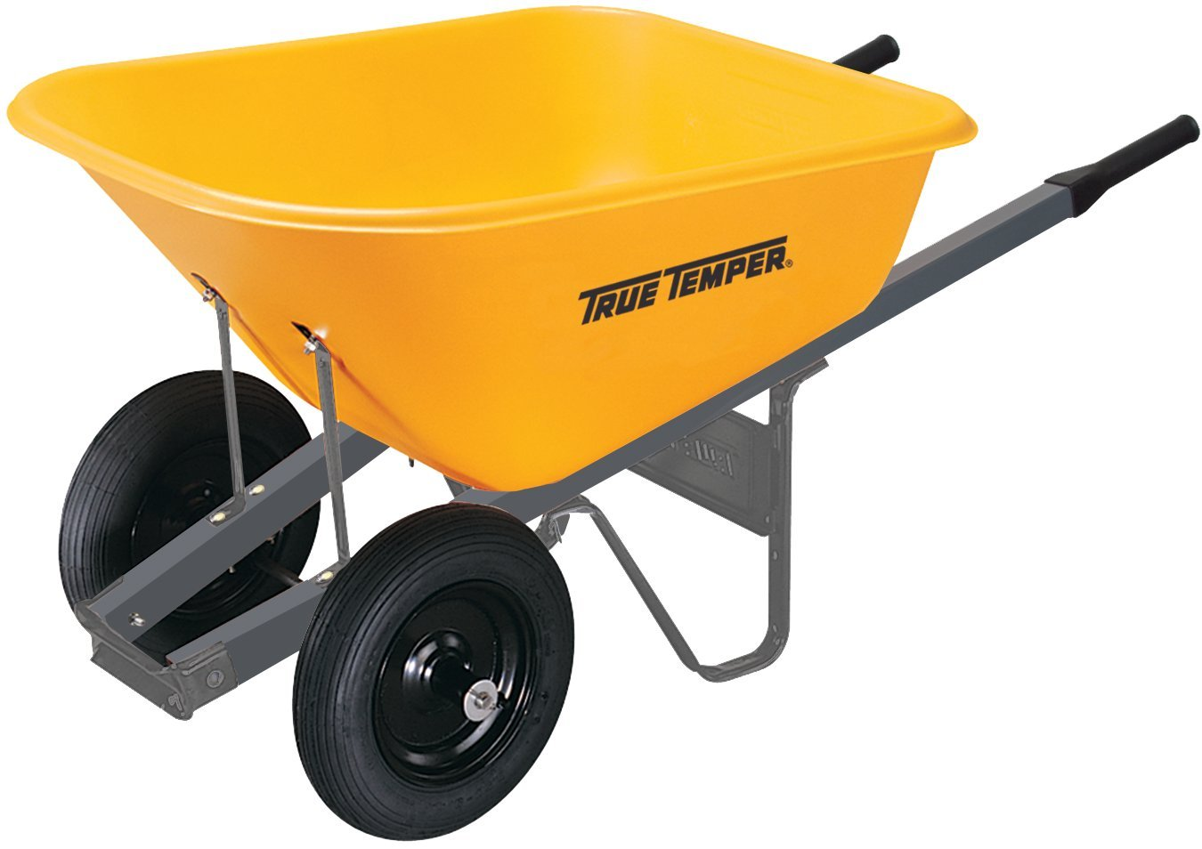 True Temper 6 Cubic Foot Wheelbarrow with Poly Tray and Dual Wheels - RP6DW8 by The AMES Companies, Inc (Image #1)