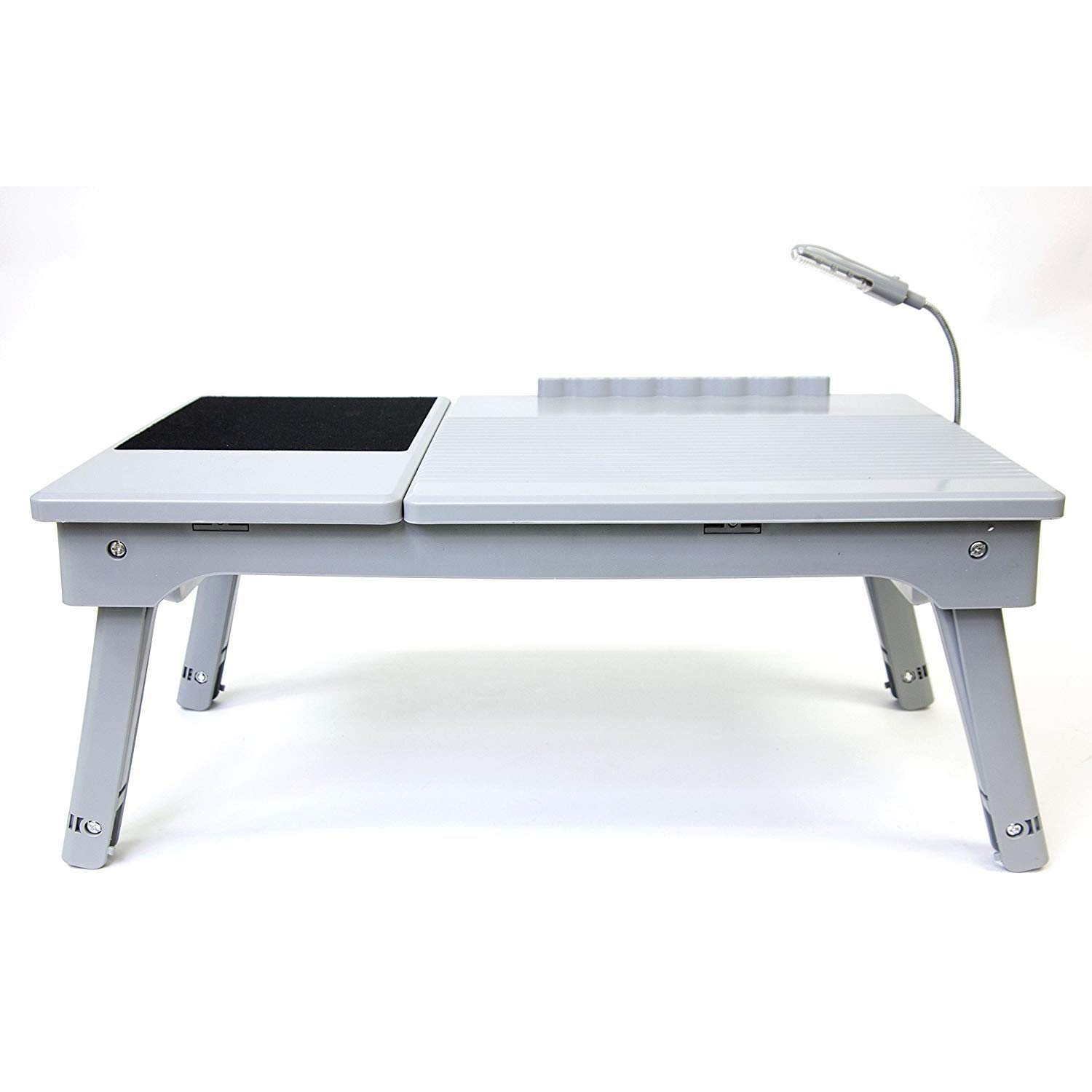 MRT SUPPLY Adjustable Height Tabletop Desk, Silver/Black with Ebook