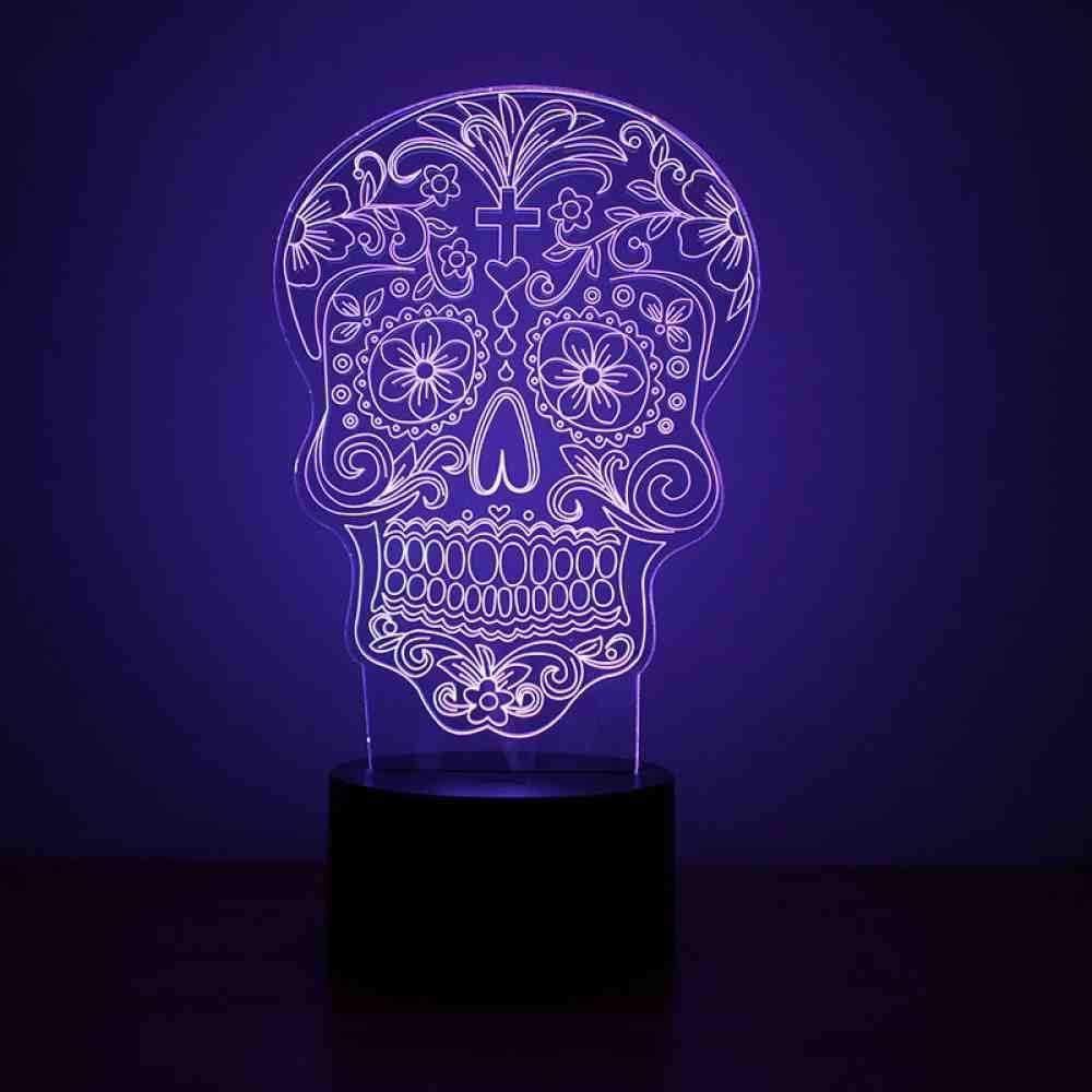 Générique Lampe Squelette Humaine 3D USB LED Lampe de Table