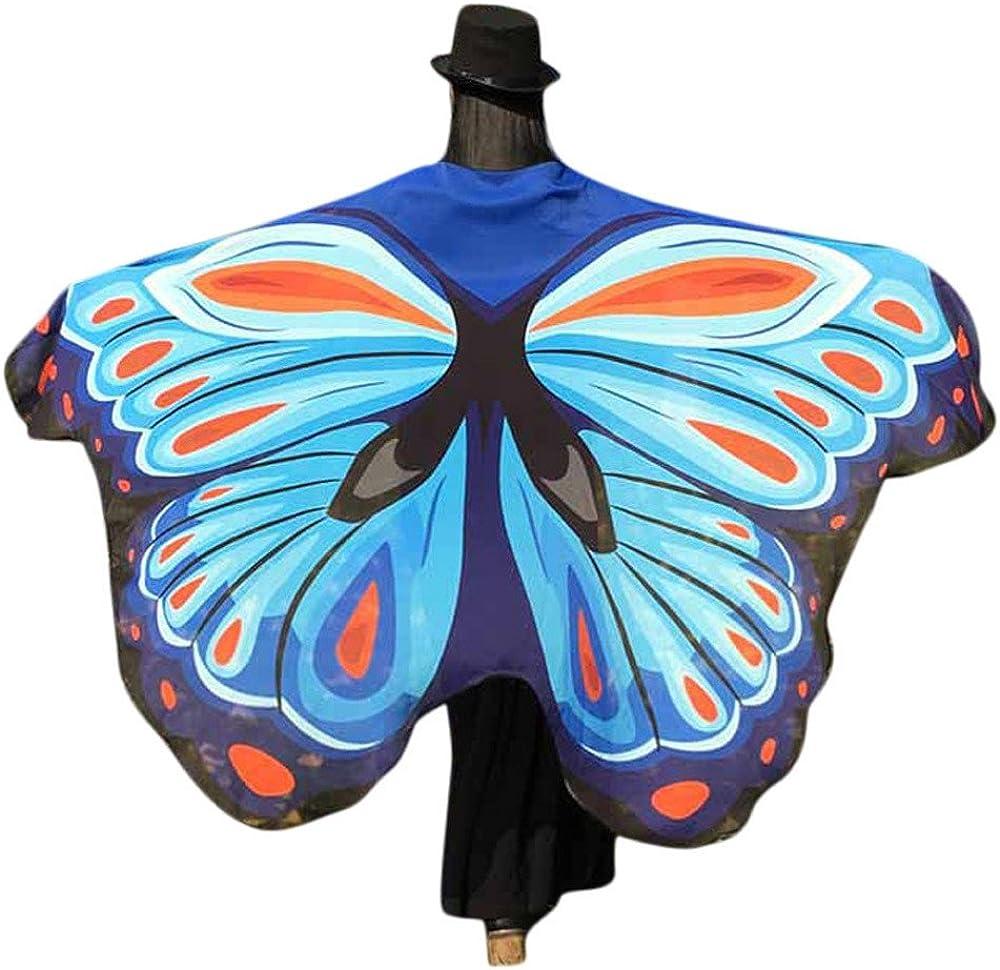 Accessoire de Costume de Nymphe Pixie Dames f/ées ch/âle PRETTYEST Ailes De Paon Ch/âle Femmes Nouveaut/é Imprimer Mousseline De Soie Papillon Aile Cape /Écharpe Paon Poncho Ch/âle Wrap