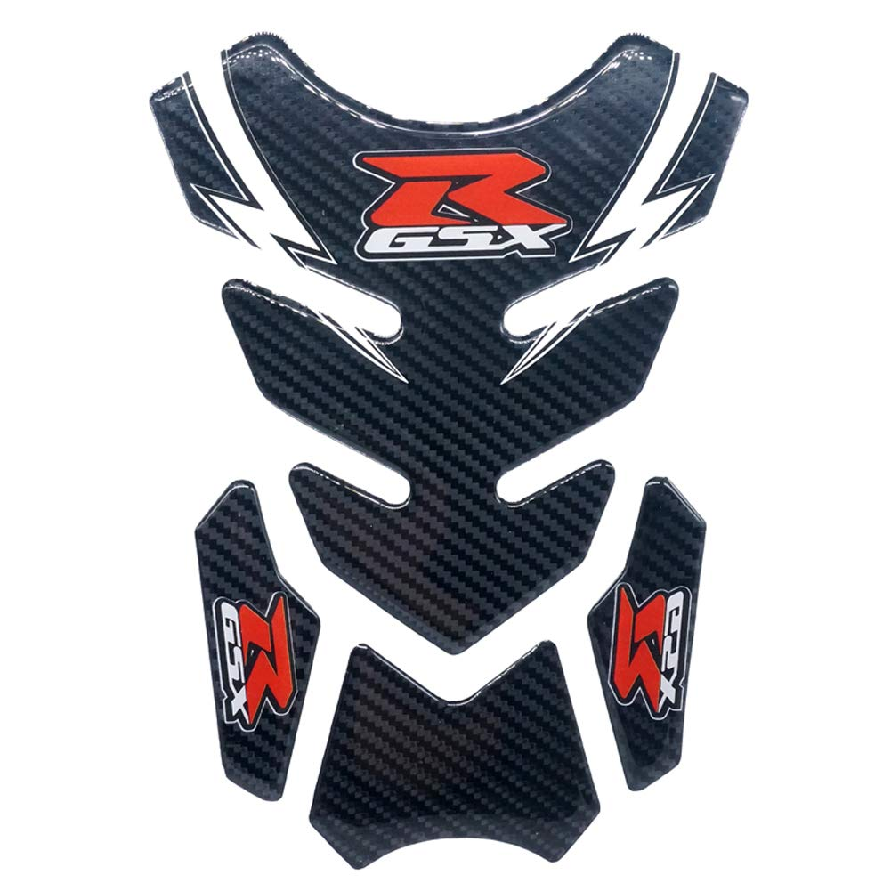 Kyobusa Motorcycle Carbon Fiber Gas Fuel Tank Decal Sticker Protector Logo Pad for Suzuki GSXR 600 750 1000 1300 Gixxer Hayabusa