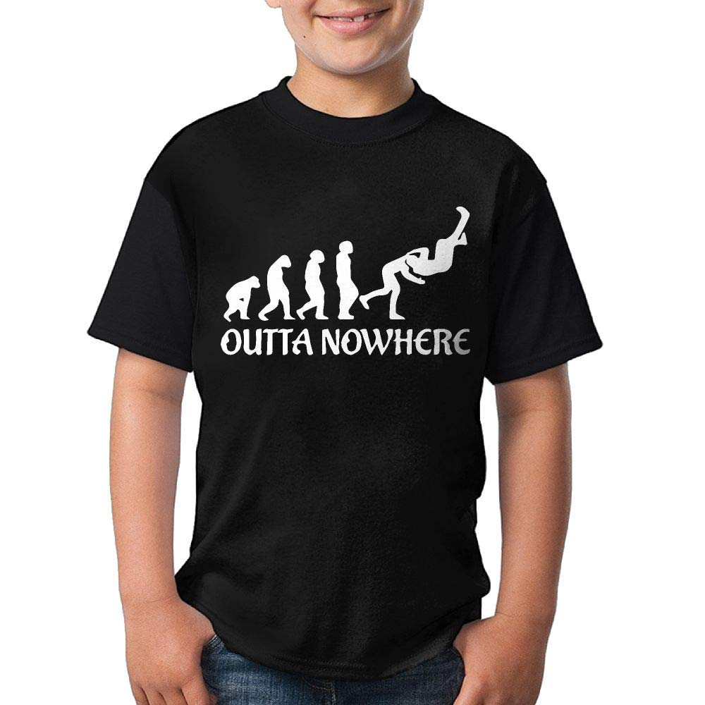 HUDS VIFV Wrestling Outta No Where Funny Youth Crew Neck Short Sleeve T Shirts Tees