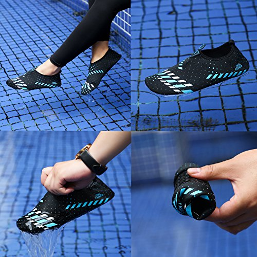 Women Heeta Barefoot Beach for Swim Swim Dry Shoes Socks Water Black Aqua Shoes Quick Men Blue Sports AwFBTPqA