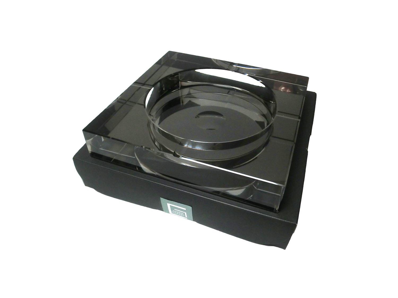 GREEM MARKET(グリームマーケット) 四角形 スクウェア 卓上 高級クリスタルガラス ブラック 黒色 ガラス製 灰皿 品番:GMS00080(25cm) B077DBW87M 25cm|ブラック ブラック 25cm