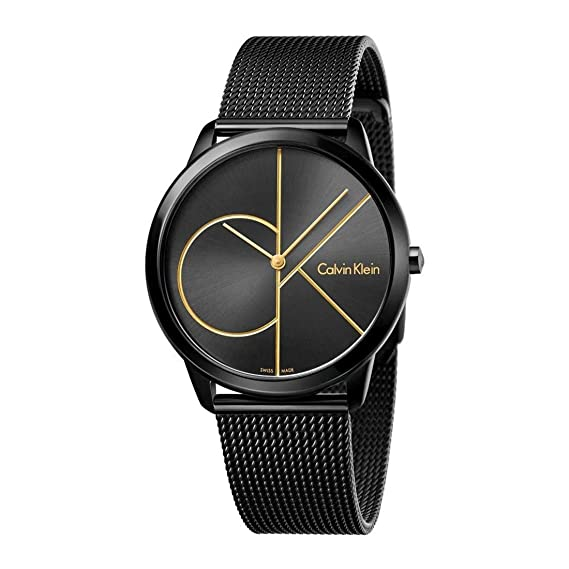Calvin Klein Reloj Analogico para Hombre de Cuarzo con Correa en Acero Inoxidable K3M214X1: Amazon.es: Relojes