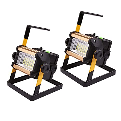 Foco de Obra Portátil Recargable LED 50W, Proyector de ...