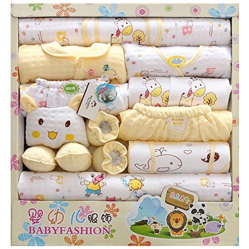 LKOUS Baby-Girls/boys Newborn 18 Piece Newborn Essentials Gift Set, Yellow