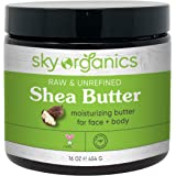 Shea Butter by Sky Organics (16 oz) 100% Pure Unrefined Raw African Shea Butter for Face and Body Moisturizing Natural…