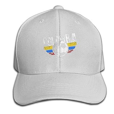 Colombia Soccer Jersey 2018 Team RussiaPlain 100% Cotton Hat Men Women  Adjustable Baseball Cap f7e571d1c93