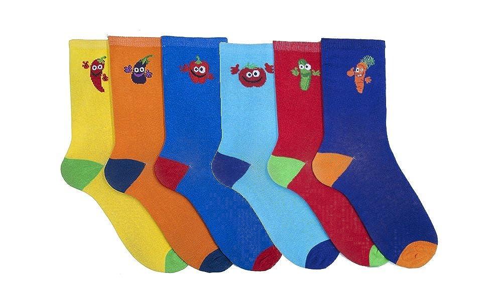 Tom Franks 6 Pairs of Mens Vegetable Character Socks 7-11
