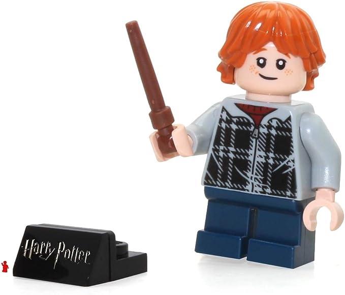 LEGO 2018 Harry Potter Minifigura, Ron Weasley (en Sudadera con Vara) 75955