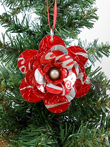 COCA COLA Christmas Ornament. Recycled Soda Can - Decorations Coca Christmas Cola