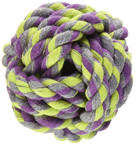 - Flossy Chews Monkey Fist Ball, Small, 3-3/4-Inch