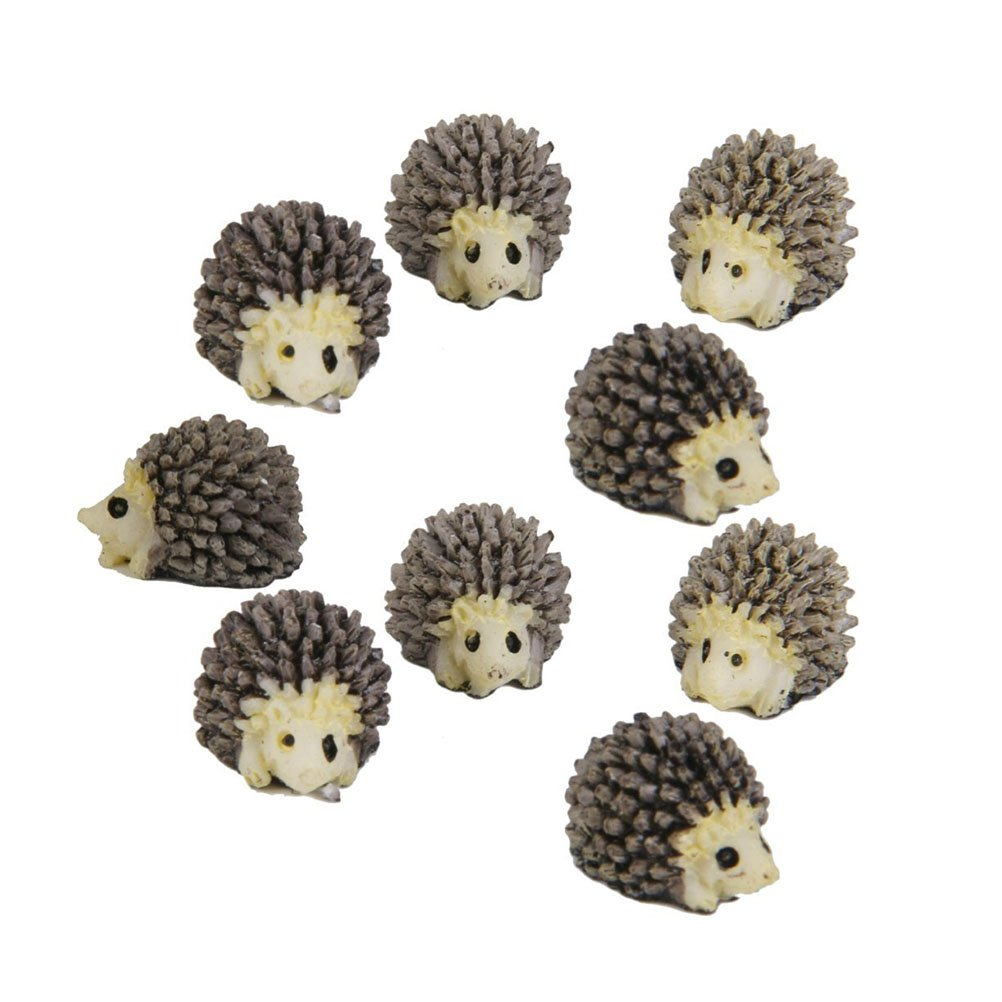NUOLUX 10pcs Miniature Hedgehog Landscape Garden Decoration Ornaments