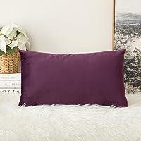 Lot de 2, Miulee douce en velours solide décoratif de taie d'oreiller carré Housse de coussin pour canapé Chambre à coucher de voiture 45,7 x 45,7 cm 45*45 cm …