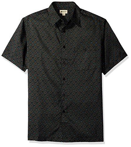 Haggar Mens Short Sleeve Microfiber Prints Woven Shirt
