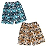 Cargo Bay Boys Bermuda Swim Shorts Perfect for Summer Beach Holidays Orange and Blue 11-12 Years