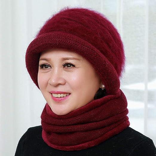 YUGOOS Sombreros de Invierno para Mujeres, Orejeras Tejidas de ...
