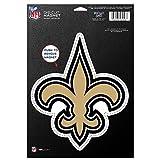 NFL New Orleans Saints 83775010 Die Cut Logo Magnet, Small, Black