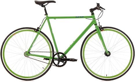 KS Cycling Flip Flop 110R - Bicicleta fixie, color verde, ruedas ...